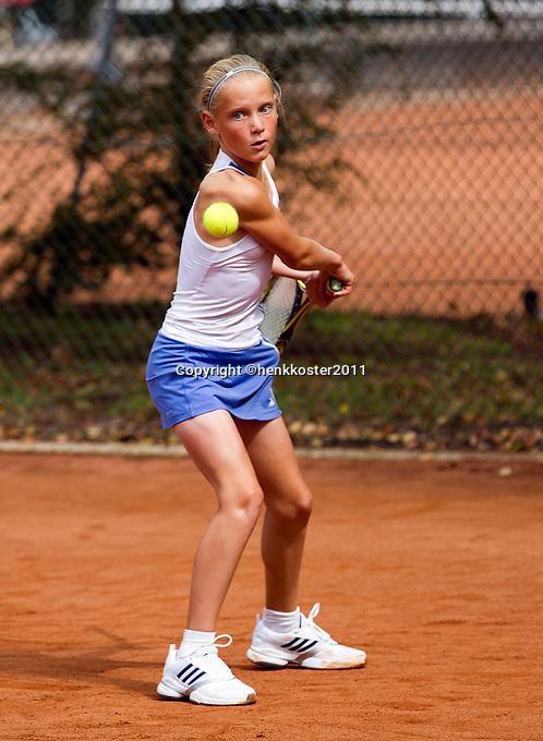 10-08-11, Tennis, Hillegom, Nationale Jeugd Kampioenschappen, NJK, Suzan Lamens