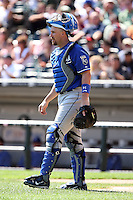 August 15 2008:  Catcher John Buck of the Kansas City Royals during a game at U.S. Cellular Field in Chicago, IL.  Photo by:  Mike Janes/Four Seam Images