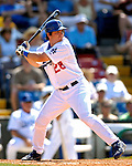13 March 2007: Los Angeles Dodgers infielder Andy La Roche in action against the Detroit Tigers during a spring training game at Holman Stadium in Vero Beach, Florida.<br /> <br /> Mandatory Photo Credit: Ed Wolfstein Photo