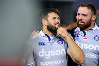 Guy Mercer of Bath Rugby looks on in a post-match huddle. Aviva Premiership match, between Exeter Chiefs and Bath Rugby on October 30, 2016 at Sandy Park in Exeter, England. Photo by: Patrick Khachfe / Onside Images