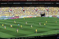 A general view from the stand during the A-League football match between Wellington Phoenix v Central Coast Mariners at Westpac Stadium, Wellington, New Zealand on Sunday, 25 March 2012. Photo: Dave Lintott / lintottphoto.co.nz