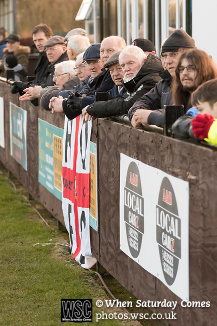 Rushall Olympic 1 Workingon 0, 17/02/2018. Dales Lane, Northern Premier League Premier Division. Rushall fans. Photo by Paul Thompson.