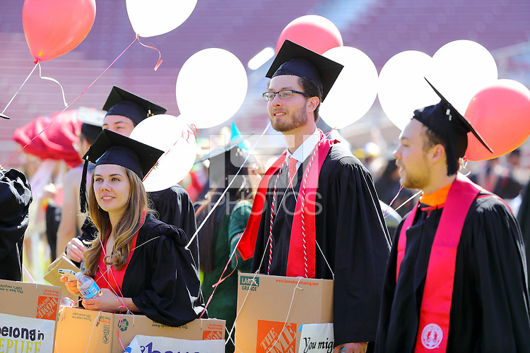Stanford, CA -- June 12, 2016:  Stanford student-athletes during Commencement  at Stanford Stadium.