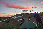 John and Beth choosing dry skies to camp atop the Continental Divide, Colorado (12,400 feet) for some night photography.<br />