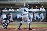 Will LaRue (10) of the Xavier Musketeers at bat against the Penn State Nittany Lions at Coleman Field at the USA Baseball National Training Center on February 25, 2017 in Cary, North Carolina. The Musketeers defeated the Nittany Lions 7-5 in game two of a double header. (Brian Westerholt/Four Seam Images)