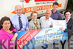 This weeks lucky winner was Kitty McCarthy from Killflynn who chose Sheehy Insulation in Duagh. Pictured l-r: Tanya Allen, Advertising Executive Kerry's Eye, Brendan Kennelly, marketing director Kerry's Eye, Pat and Sean Sheehy of Sheehy Insulation, Kitty McCarthy and Suzanne Ennis, Marketing and Development Officer, Tralee Credit Union. .