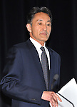 """May 1, 2011, Tokyo, Japan - Kazuo Hirai, Sony Entertainment President, arrives for a news conference at its headquarter in Tokyo on Sunday, May 1, 2011. Hirai, along with two other executives, apologized for a security breach in the company PlayStation Network that caused the loss of personal data of some 77 million accounts on the online service. Sony has said it has contacted U.S. Federal Bureau of Investigation to look into what the company called """"a criminal cyber attack"""" on Sony's data center in San Diego, California. (Photo by Natsuki Sakai/AFLO) [3615] -mis-."""