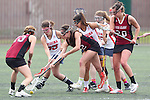 Santa Barbara, CA 02/18/12 - Kathleen Dermody (Santa Clara #23),Chelsea Regan (Arizona #35), Mayan Zeitlin (Santa Clara #12) and Kendall Eder (Santa Clara #20) in action during the Santa Clara-Arizona game at the 2012 Santa Barbara Shootout.  Santa Clara defeated Arizona 18-9.