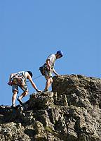 CHE, Schweiz, Kanton Bern, Berner Oberland, Sustenpass (2.224 m) - Grenze der Kantone Bern und Uri: Kletter- und Bergsteigerschule | CHE, Switzerland, Bern Canton, Bernese Oberland, Sustenpass (2.224 m) - border of cantones Bern + Uri: climbing school