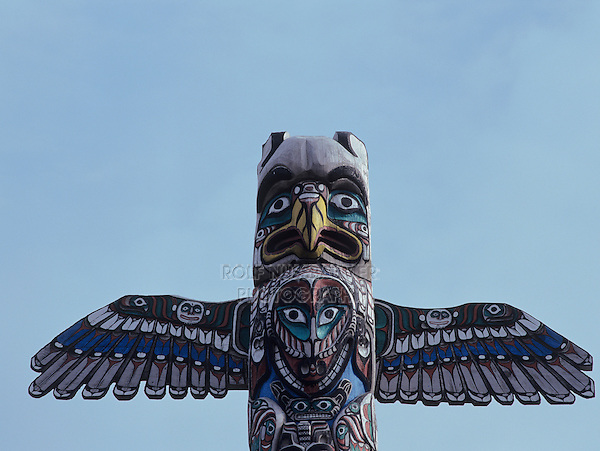 Totem Pole, Homer, Kenai Peninsula Borough, Alaska, USA, March 2000