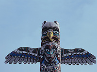 Totem Pole, Homer, Kenai Peninsula Borough, Alaska, USA, March 2000