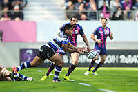 Ben Tapuai of Bath during the European Challenge Cup semi final between Stade Francais and Bath on April 23, 2017 in Paris, France. ( Photo by Andre Ferreira / Icon Sport )
