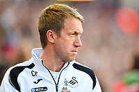 Graham Potter Manager of Swansea City during the Sky Bet Championship match between Aston Villa and Swansea City at Villa Park in Birmingham, England, UK.  Saturday 20 October  2018