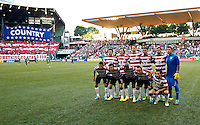 PORTLAND, Ore. - July 9, 2013: The starting 11 for the USA. The US Men's National team plays the National team of Belize during the 2013 Gold Cup at at JELD-WEN Field.