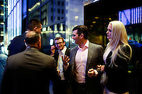NEW YORK, NY - MAY 3 : Donald Trump Jr (C-R) son of U.S. Republican presidential candidate Donald Trump arrives to attend a post-election remarks on May 3, 2016 in Manhattan, New York. Front-running Republican candidate Trump won Indiana's Republican primary, moving him closer to claiming the party's nomination. Photo by VIEWpress