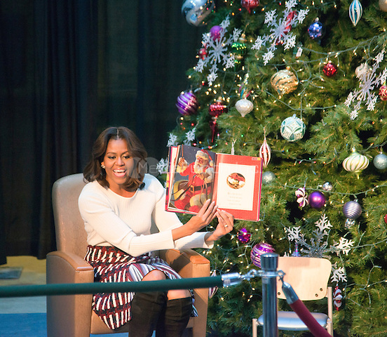 WASHINGTON, DC - DECEMBER 15:  First Lady Michelle Obama attends the annual Christmas party at the National Children's Hospital in Washington, DC.  Photo Credit:  Patsy Lynch /MediaPunch