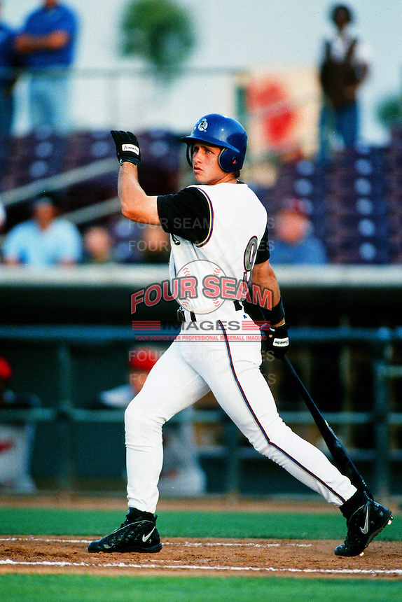 Bubba Crosby of the San Bernardino Stampede during a California League baseball game at The Ranch circa 1999 in San Bernardino,CA. (Larry Goren/Four Seam Images)