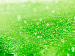 Lime green splashing water closeup abstract background texture