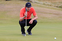 Ashley Chesters (ENG) on the 16th green during Round 3 of the Dubai Duty Free Irish Open at Ballyliffin Golf Club, Donegal on Saturday 7th July 2018.<br /> Picture:  Thos Caffrey / Golffile