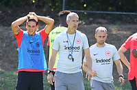 Trainer Adi Hütter (Eintracht Frankfurt) mitGoncalo Paciencia (Eintracht Frankfurt) - 18.07.2018: Eintracht Frankfurt Training, Commerzbank Arena