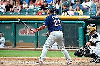 Ronny Cedeno (23) of the Reno Aces at bat against the Salt Lake Bees in Pacific Coast League action at Smith's Ballpark on July 24, 2014 in Salt Lake City, Utah.  (Stephen Smith/Four Seam Images)