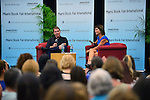 MIAMI, FL - SEPTEMBER 30: Author Nicholas Sparks and Jackie Nepral discusses his book 'The Longest Ride' presented by Books and Books at Chapman Conference Center at Miami Dade College on September 30, 2013 in Miami, Florida. (Photo by Johnny Louis/jlnphotography.com)
