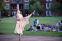 Classical Week 2016 Phaedra (Roman tragedy by Seneca) performance at the Zacharias Village Courtyard, presented by The Shakouls Honors College. Chrysta Beck as dancer.<br />