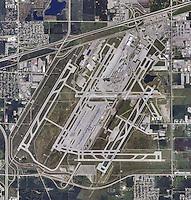 aerial photograph Detroit Metropolitan Airport, Michigan