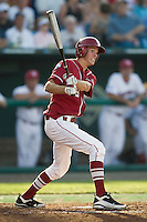 Oklahoma 2B Danny Black in Game 10 of the NCAA Division One Men's College World Series on June 24th, 2010 at Johnny Rosenblatt Stadium in Omaha, Nebraska.  (Photo by Andrew Woolley / Four Seam Images)