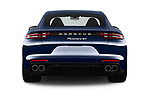Straight rear view of a 2018 Porsche Panamera 4S 5 Door Hatchback stock images
