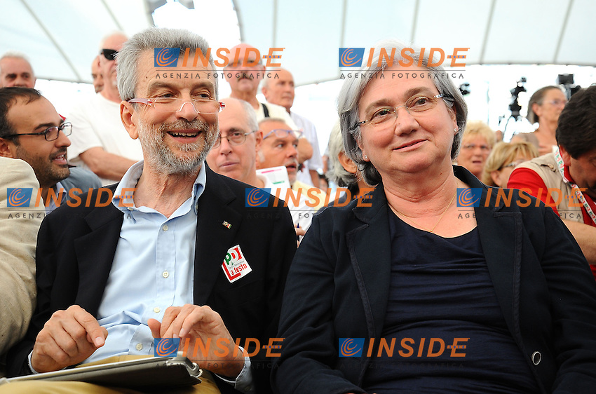 Cesare Damiano e Rosi Bindi <br /> Genova 07-09-2013 Festa Nazionale Partito Democratico <br /> Democratic Party National Meeting <br /> Photo  Genova Foto /Insidefoto