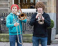 Musicians playing on the high street<br /> <br /> Photographer Simon King/CameraSport<br /> <br /> International Rugby Union - 2017 Under Armour Series Autumn Internationals - Wales v Australia - Saturday 11th November 2017 - Principality Stadium - Cardiff<br /> <br /> World Copyright &copy; 2017 CameraSport. All rights reserved. 43 Linden Ave. Countesthorpe. Leicester. England. LE8 5PG - Tel: +44 (0) 116 277 4147 - admin@camerasport.com - www.camerasport.com