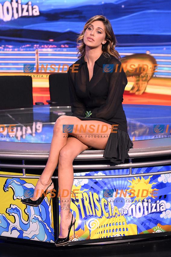 Belen Rodriguez <br /> Milano 22-09-2016 - photocall trasmissione Tv Striscia la notizia <br /> foto Daniele Buffa/Image/Insidefoto