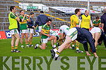 Kerry team players warm down after beating Limerick in the Muster Senior Semi final held in The Gaelic Grounds last Saturday evening.