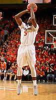 Virginia guard Teven Jones (5) during the game Saturday, February 22, 2014,  in Charlottesville, VA. Virginia won 70-49.