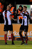 Marcus Carver (right) of Chorley celebrates the opening goal during Chorley vs Fleetwood Town, Emirates FA Cup Football at Victory Park on 6th November 2017