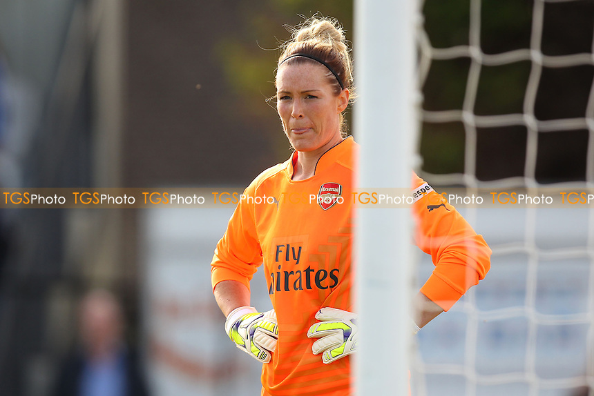 Emma Byrne of Arsenal Ladies - Arsenal Ladies vs Liverpool Ladies - FA Womens Super League Football at Meadow Park, Boreham Wood FC  - 05/10/14 - MANDATORY CREDIT: Gavin Ellis/TGSPHOTO - Self billing applies where appropriate - contact@tgsphoto.co.uk - NO UNPAID USE