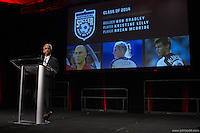 San Francisco, CA - Saturday Feb. 14, 2015: US Soccer president Sunil Gulati at the 2014 US Soccer Hall of Fame Induction ceremony.
