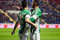 Real Betis Balompie's Ruben Castro and Varela during La Liga match. November 27, 2015. (ALTERPHOTOS/Javier Comos)