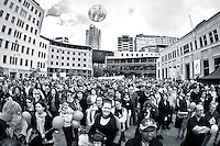 It was a great turnout!<br /> <br /> Around 1000 supporters attended The Hobbit Rally at Civic Square in Wellington. The rally was in aid of convincing Warner Bros that The Hobbit has the support of the people of New Zealand &amp; further afield, &amp; it should be made here &amp; not go overseas.<br /> <br /> Two days after the rally it was announced by Prime Minister John Key, that talks with Warner Bros were successful &amp; The Hobbit will be filmed in New Zealand.