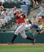 Altoona Curve infielder Drew Maggi (7) during game against the Trenton Thunder at ARM & HAMMER Park on July 24, 2013 in Trenton, NJ.  Altoona defeated Trenton 4-2.  Tomasso DeRosa/Four Seam Images