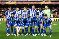 Dynamo Kyiv team: Rybka, Danilo Silva, Dragovic, Khacheridi, Makarenko, Miguel Veloso, Vukojevic, Lens (Gusev, m. 75), Yarmolenko, Haruna (Bezus, m. 65) e Ideye Brown (Mbokani, m. 69)