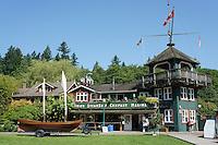 Union Steamship Marina building in Snug Cove, Bowen Island, British Columbia, Canada