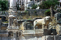 Libya   Cyrene.Archaeological site, Apollo sanctuary,  .City founded by the Greek 3rd century BC.Ruins of Sanctuary of Apollo.UNESCO World Heritage Site.......