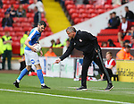 Chris Wilder manager of Sheffield Utd marks the spot for a throw in during the League One match at Bramall Lane Stadium, Sheffield. Picture date: September 17th, 2016. Pic Simon Bellis/Sportimage
