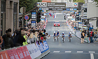 Team Quickstep Floors rolling accross the finish line (losing their championship title)<br /> <br /> Men's Team Time Trial<br /> <br /> UCI 2017 Road World Championships - Bergen/Norway