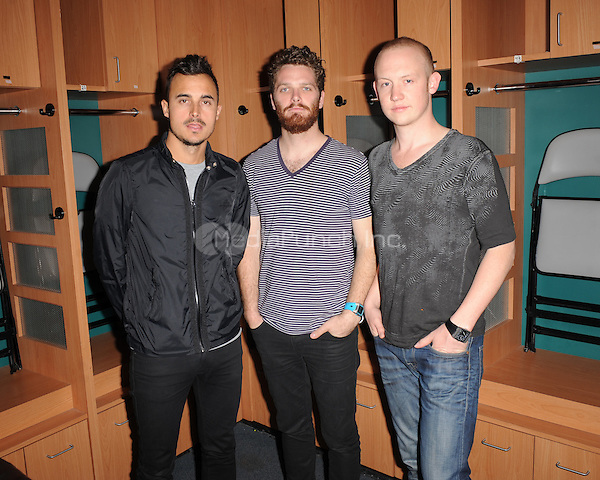 SUNRISE, FL - DECEMBER 12 : The Fray pose backstage at the Y-100 Jingle ball held at the Bank Atlantic center on December 12, 2009 in Fort Lauderdale Florida. Credit: mpi04/MediaPunch