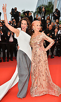 "CANNES, FRANCE. May 18, 2019: Andie MacDowell & Helen Mirren at the gala premiere for ""The Most Beautiful Years of a Life"" at the Festival de Cannes.<br /> Picture: Paul Smith / Featureflash"