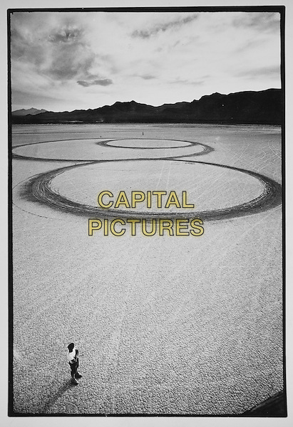 Troublemakers: The Story of Land Art (2015) <br /> Michael Heizer's Circular Surface, Planar Replacement Drawing, El Mirage Dry Lake, 1969<br /> *Filmstill - Editorial Use Only*<br /> CAP/KFS<br /> Image supplied by Capital Pictures