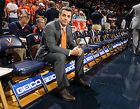 Virginia head coach Tony Bennett during an NCAA basketball game Monday Jan. 20, 2014 in Charlottesville, VA. Virginia defeated North Carolina 76-61.